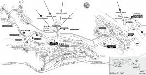 Карта (план) поселка Thredbo
