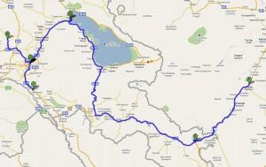 Наш маршрут по Армении
