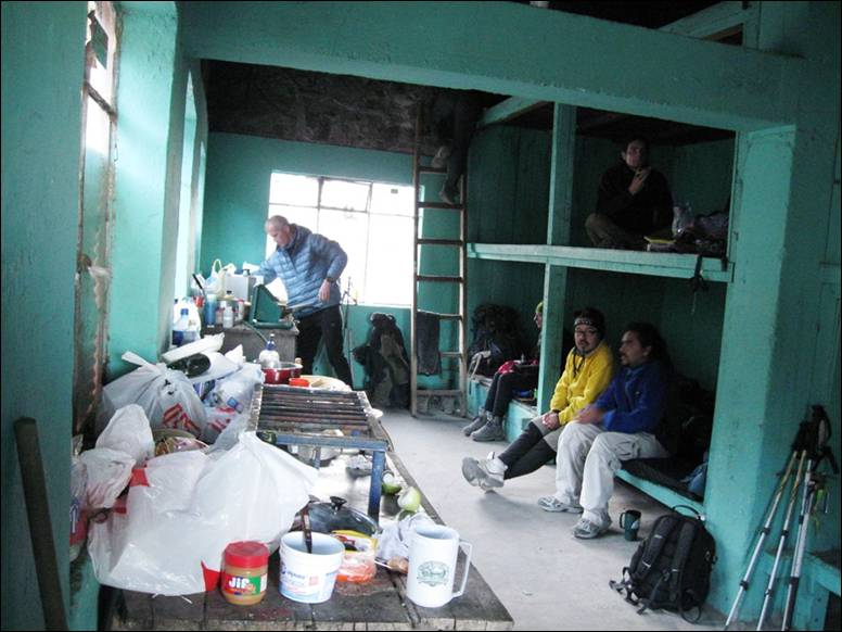 Внутри приюта Пьедра Гранде, Орисаба.