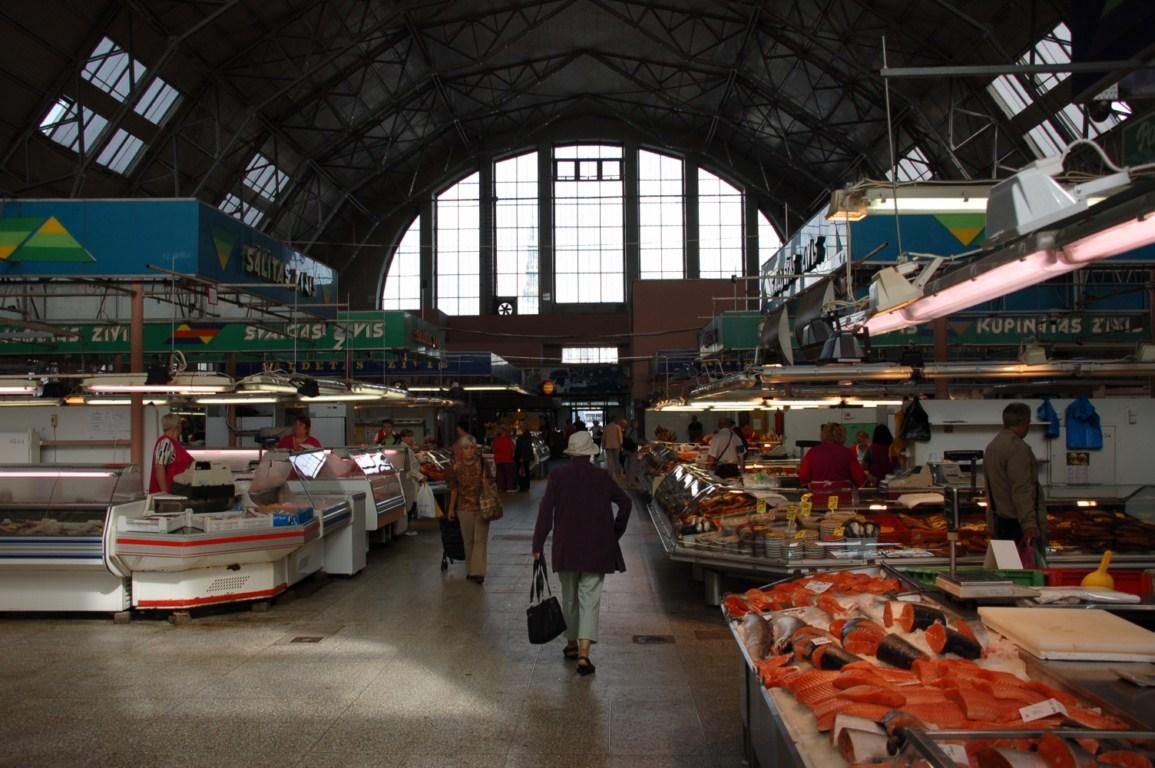 Рига внутри центрального рынка