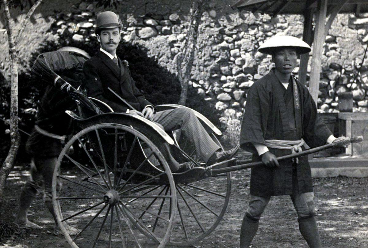 Цесаревич Николай во время поездки по Японии