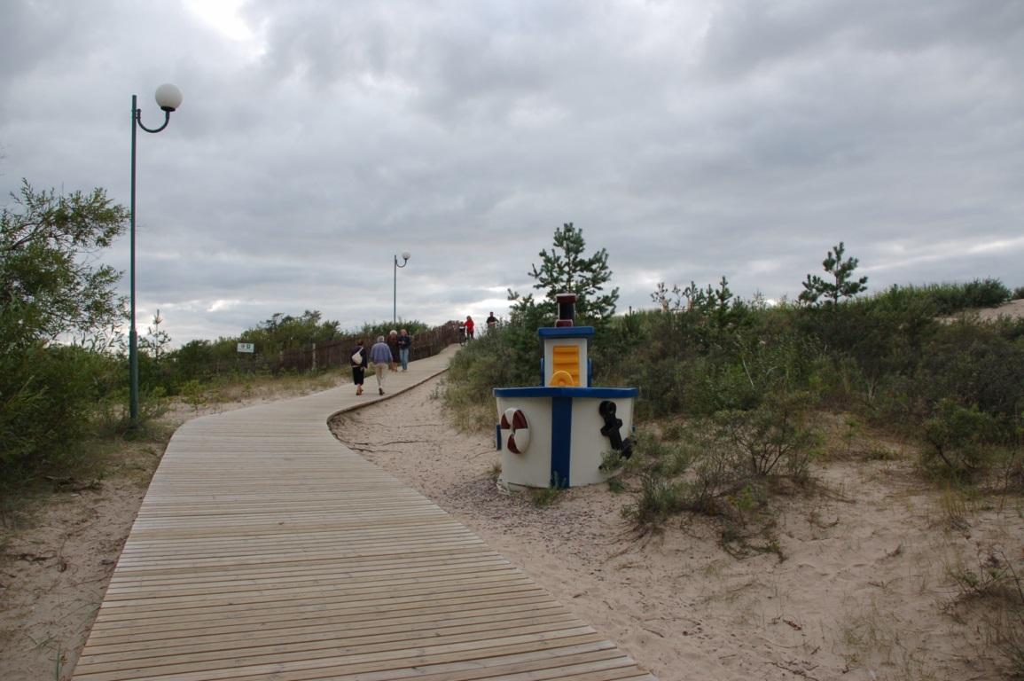 Вентспилс - дорога на пляж