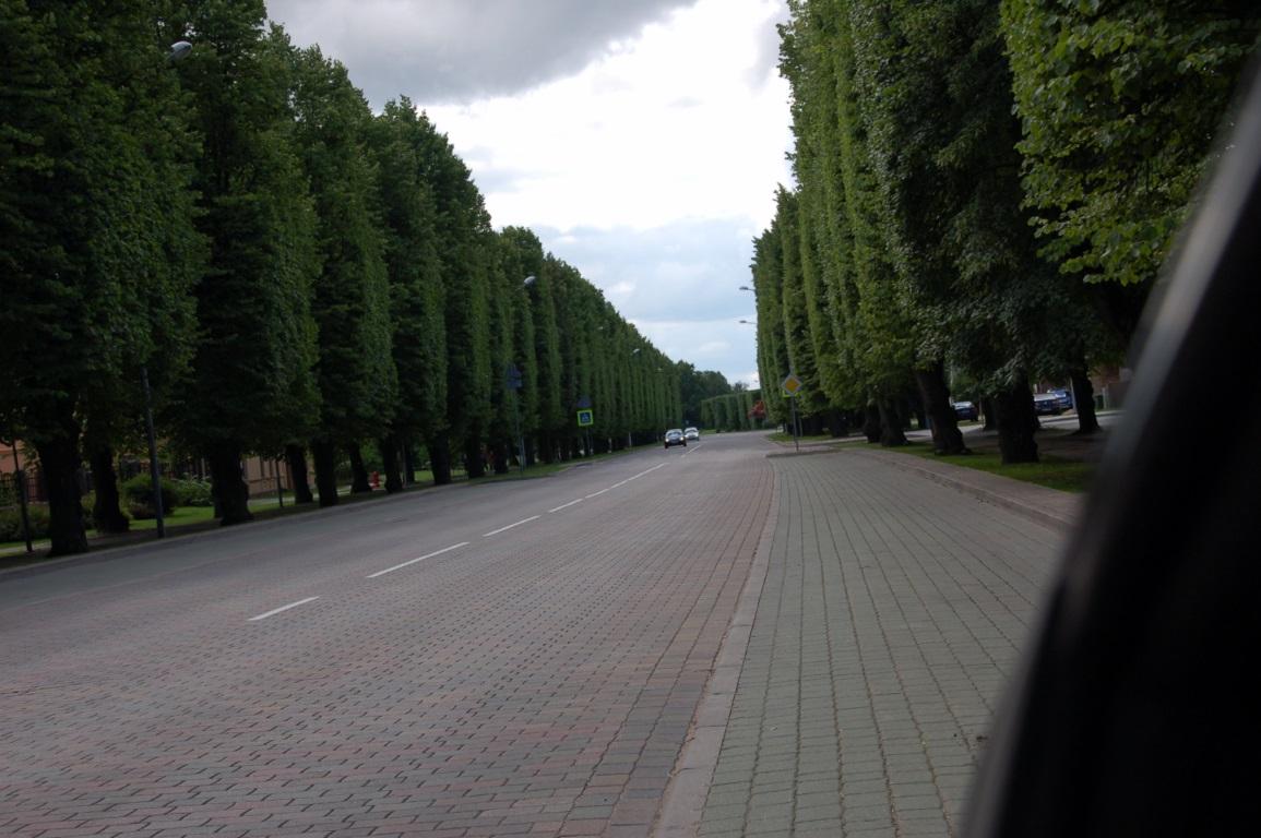 Вентспилс - дорога в городе