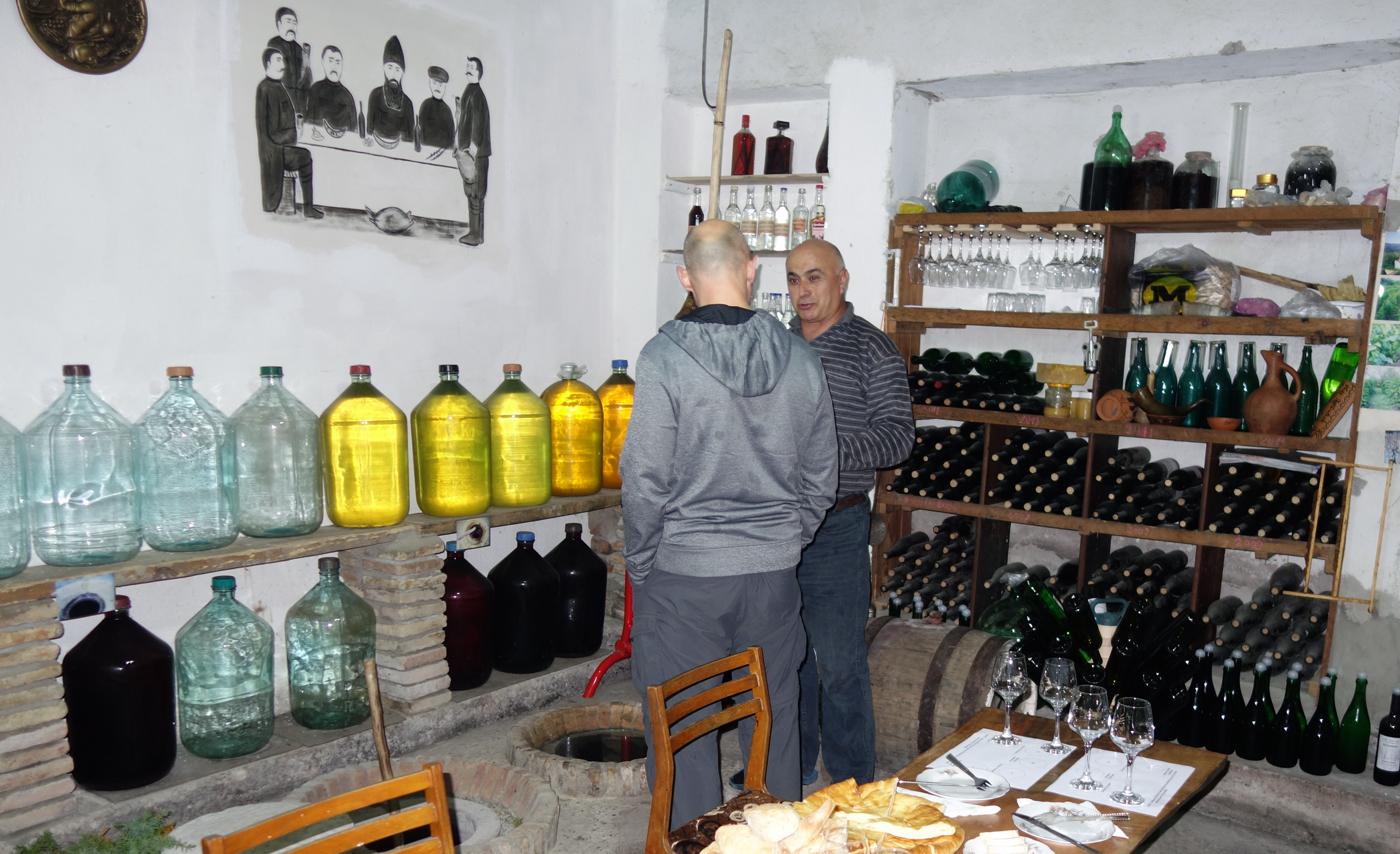 В гостях у винодела в Грузии