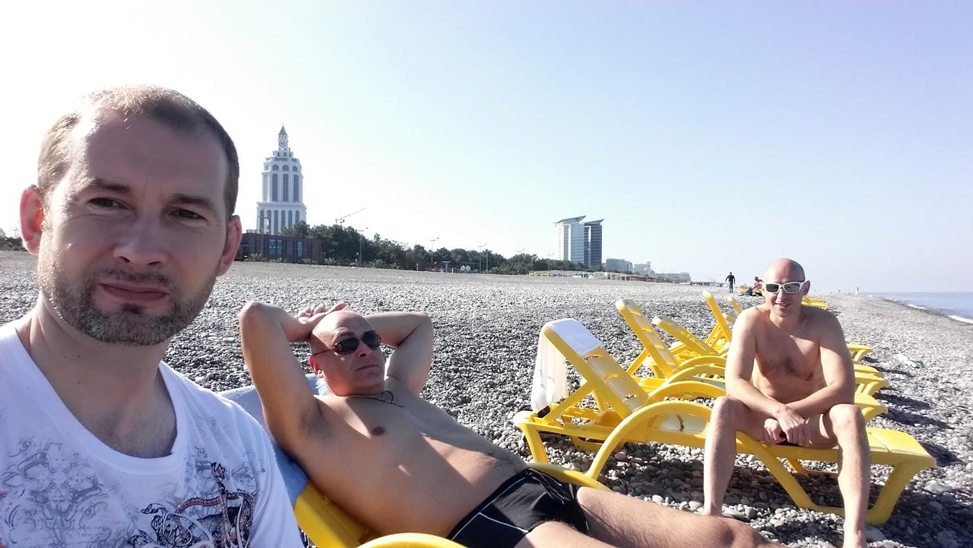 На пляже в Батуми