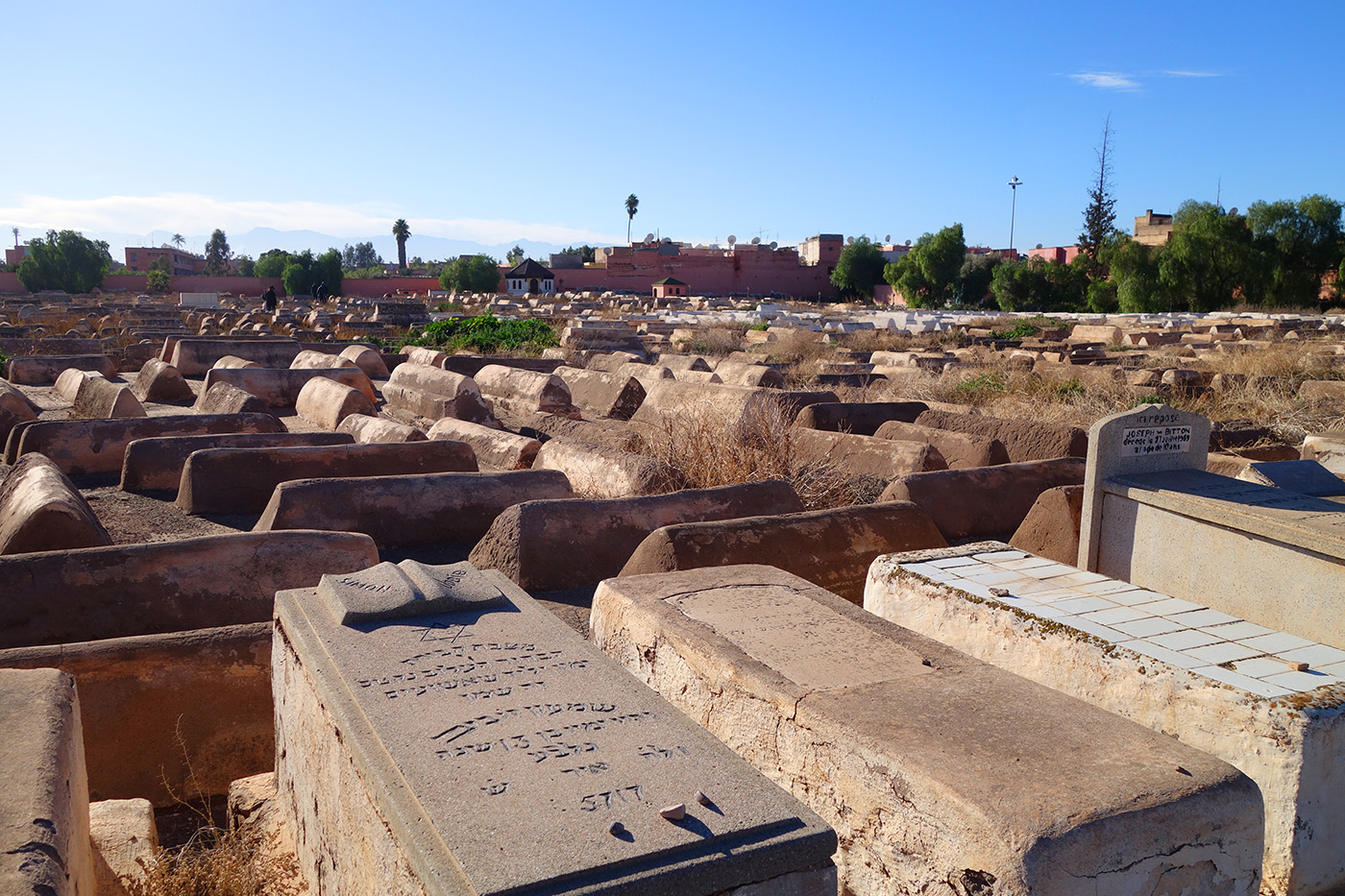 старое еврейское кладбище в Марракеше
