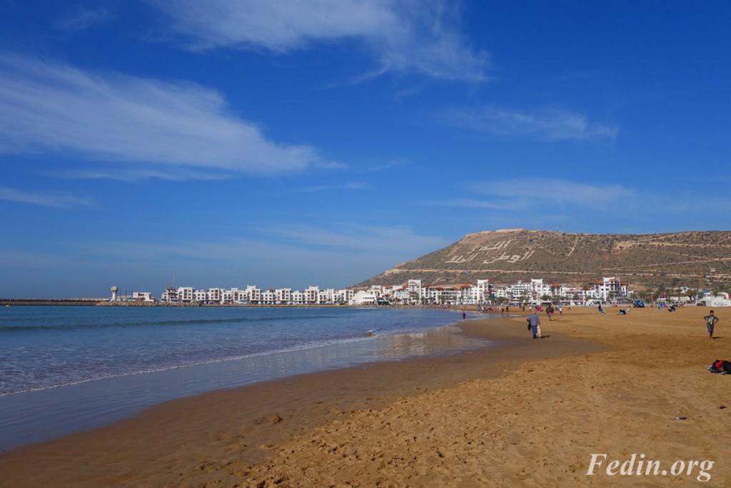 пляж агадира марокко